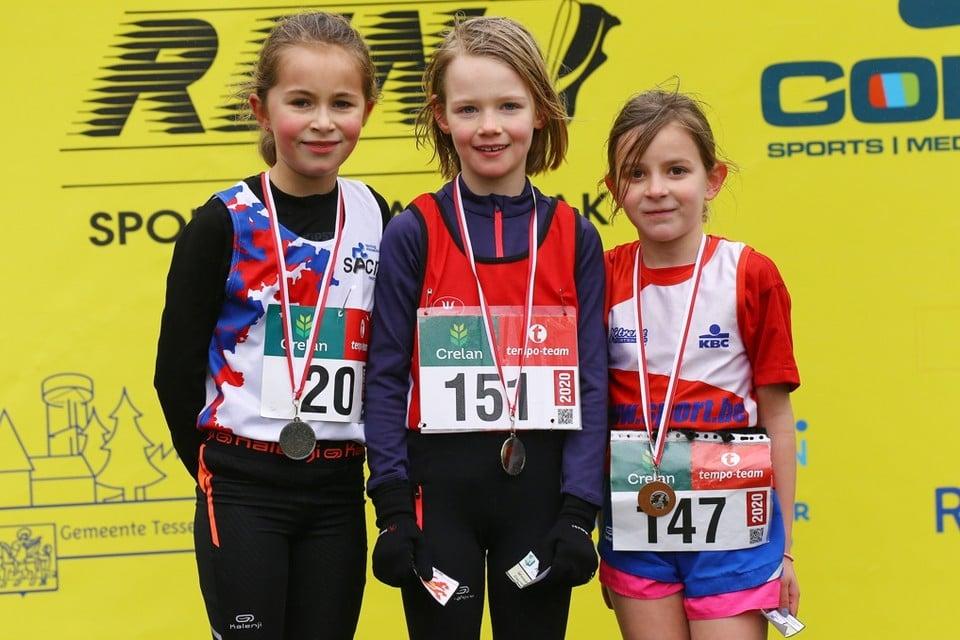 1ste jaars Benjamin Meisjes 1 Fleur Jans (AVT) 2 Nienke Stessens (SACN) 3 Ziva Cluysen (AVT)