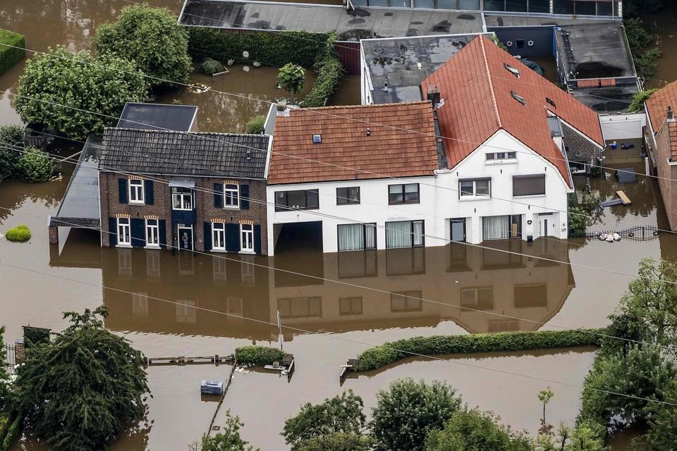In Valkenburg is de schade na de watersnood groot.