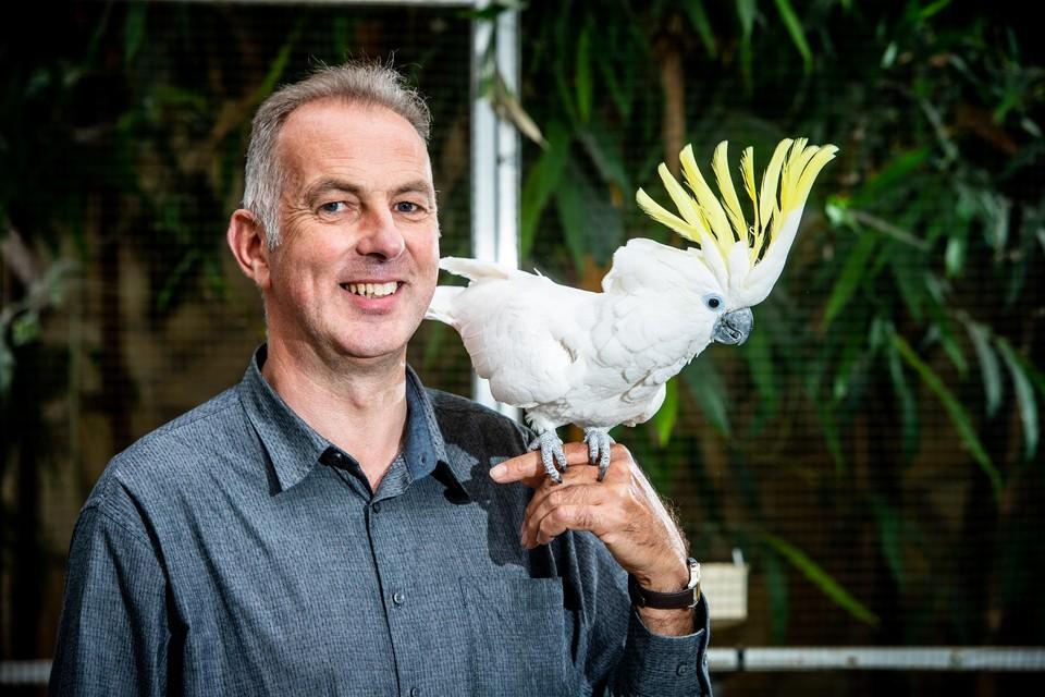 Noël Hendrikx heeft Noël in Overpelt zowat honderd vogelsoorten uit de halve wereld samengebracht.