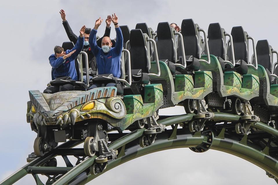 De nieuwe achtbaan Kondaa in Walibi Belgium