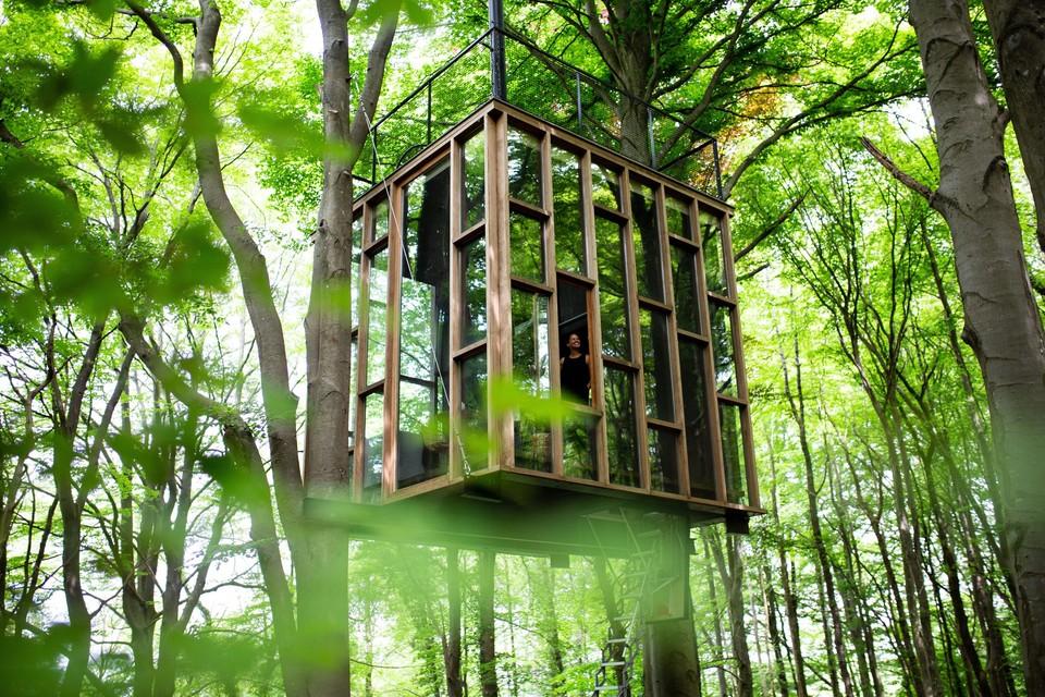 Zeg niet zomaar boomhut tegen de architecturale pareltjes van ICI in het Luxemburgse dorpje Humain.