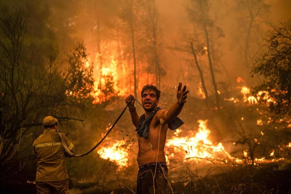 Bosbranden, zoals hier in Griekenland, zullen steeds vaker voorkomen in Zuid-Europa.