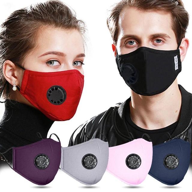 Vooral de maskers met ventielen op de zijkant beschermen anderen niet