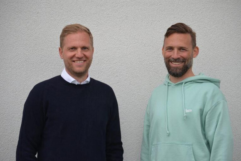 Hoofdtrainer Marc Schneider en assistent Pascal Cerrone.