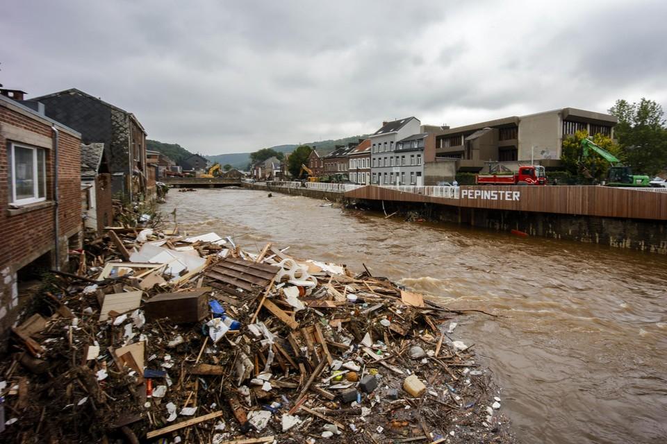 Onder meer in Pepinster likken ze nog steeds hun wonden na de overstromingen.