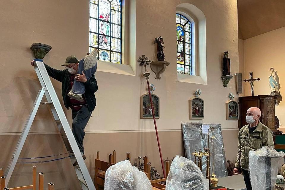 Erfgoed Haspengouw zorgde er, samen met de kerkfabriek en de gemeente, voor dat alles in de Sint-Martinuskerk in Mettekoven zorgvuldig geïnventariseerd en opgeborgen werd.