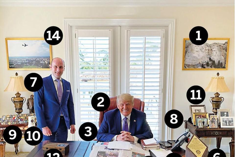 Een mini Oval Office in Florida.