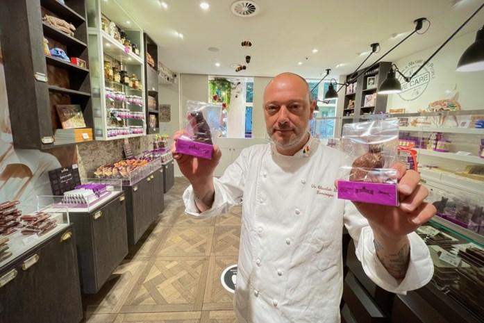 Dominique Persoone haalde intussen al 6.000 euro op met zijn katten en honden uit chocolade.