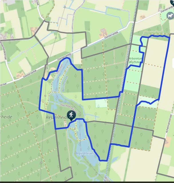De blauwe reigerroute in Hechtel-Eksel