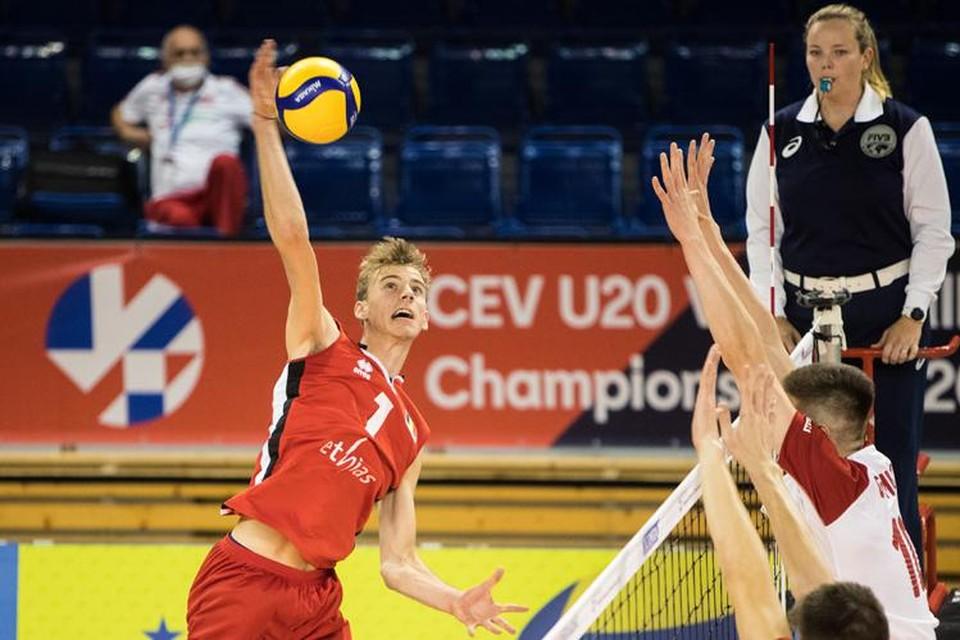 Ferre Reggers in actie op het EK U20.