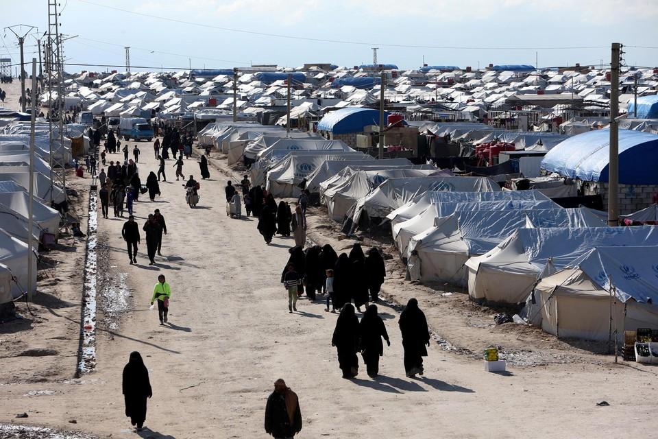 Archiefbeeld van het kamp Al-Hol.