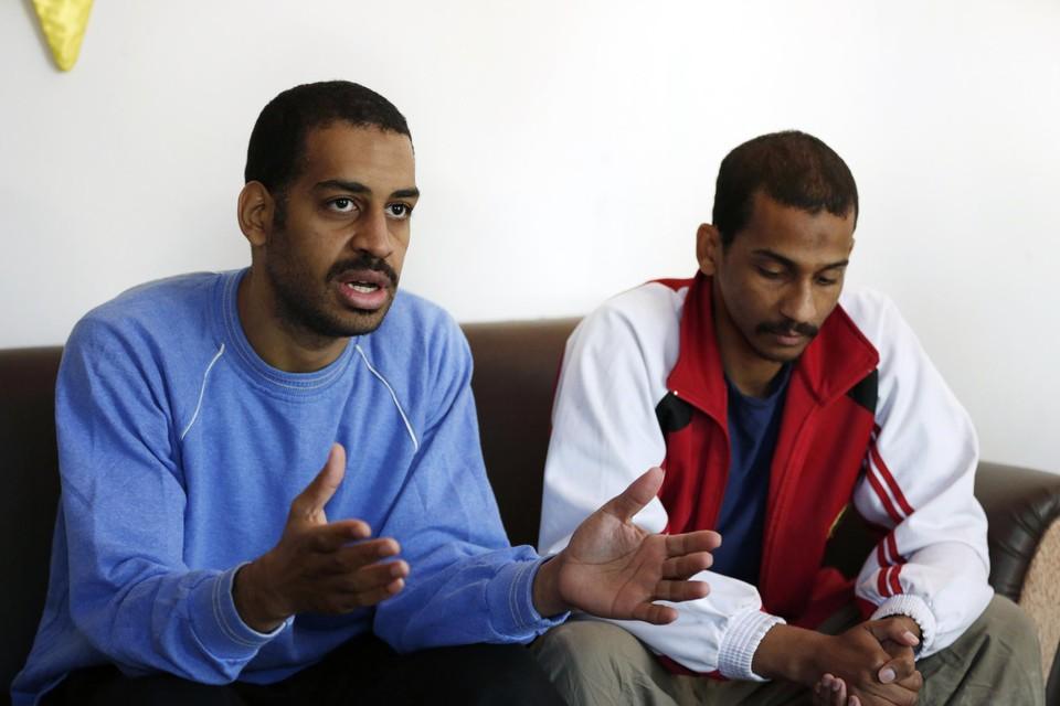 Alexanda Kotey of 'Jihadi Ringo' (links) en El Shafee Elsheikh of 'Jihadi George' (rechts) werden vorig jaar naar de VS overgevlogen om te worden berecht.