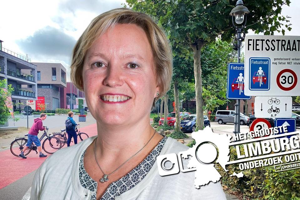Burgemeester Ann Schrijvers (ZVP).
