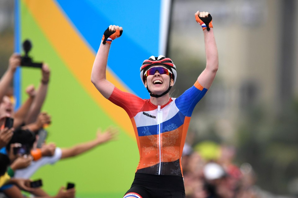 Van der Breggen pakte goud op de Spelen in Rio.