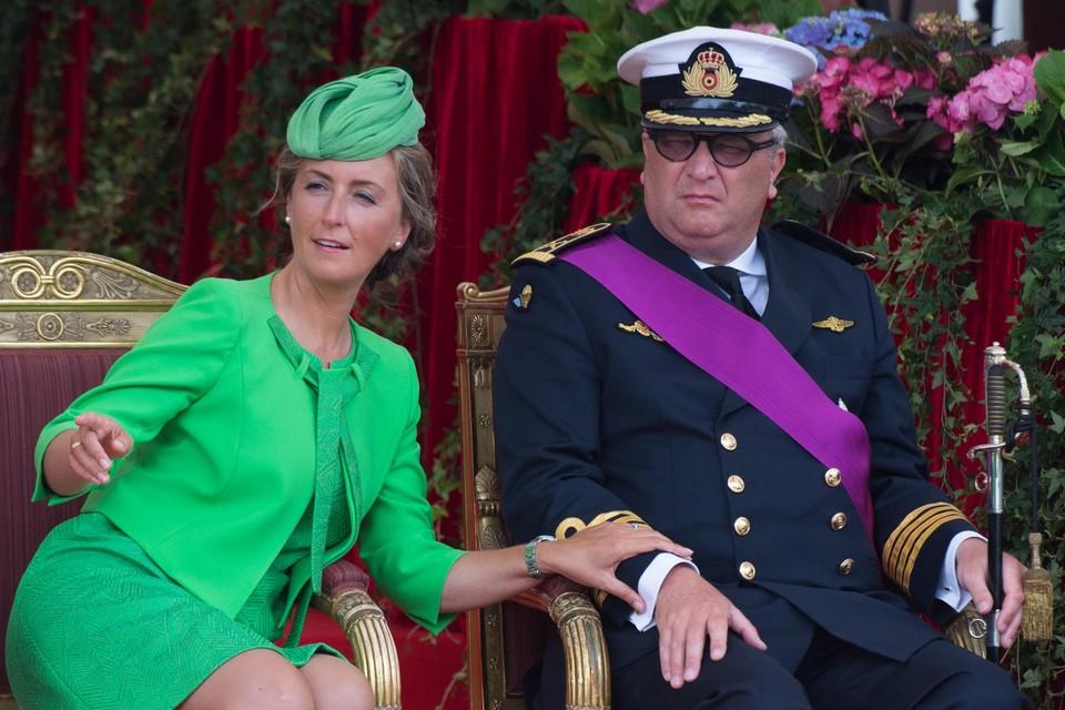 Prinses Claire woonde eind 2019 voor het laatst een officiële aangelegenheid van het koningshuis bij (hier op het nationaal defilé in 2015).
