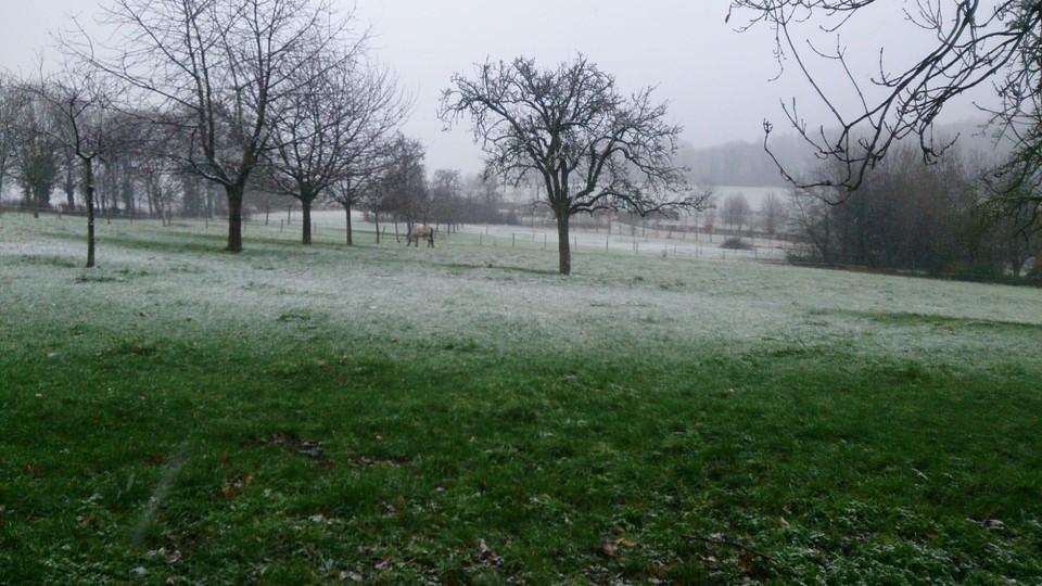 In Voeren was er een heel dun laagje wit.