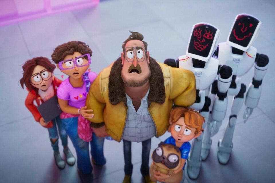 Voluit lachen met een disfunctionele familie die de wereld redt van een robotinvasie in 'The Mitchells vs. the Machines'.