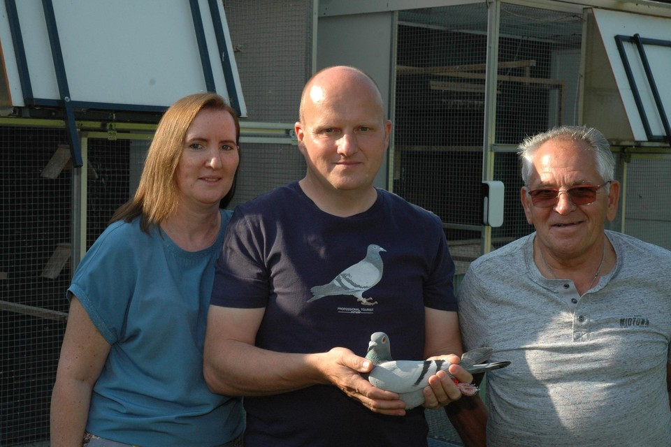 Sabrina Brugmans, met Stephan Machiels en vriend Valère.