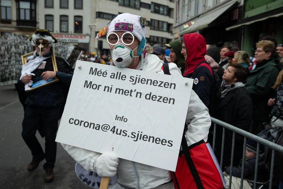 Met Aalst Carnaval was corona in februari van dit jaar nog maar een bescheiden thema. Dat zal in de volgende editie wel anders zijn.