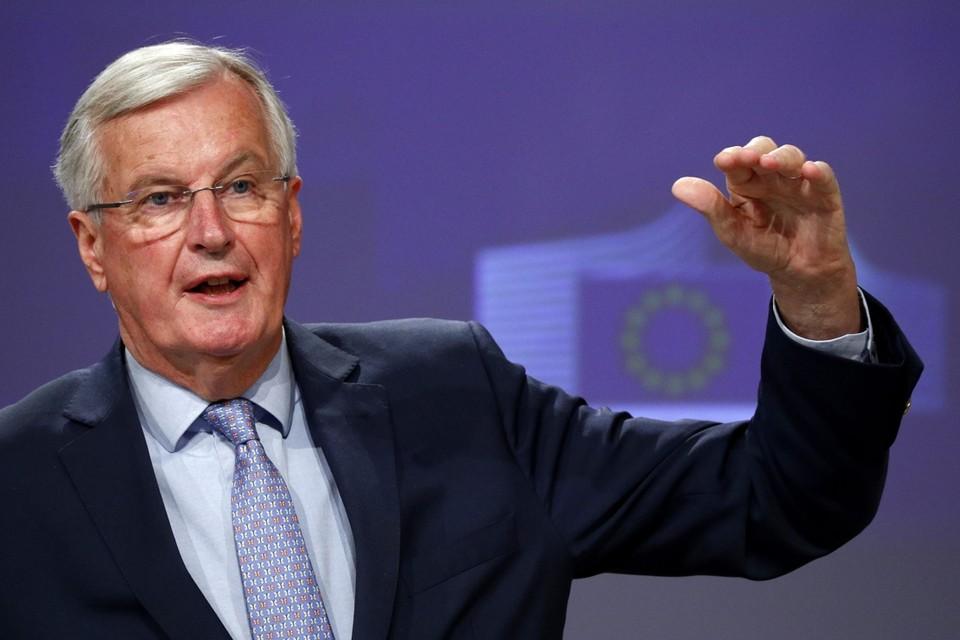 De hoofdhandelaar voor de EU, Michel Barnier