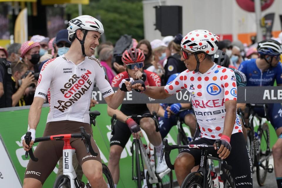 Nairo Quintana (rechts).