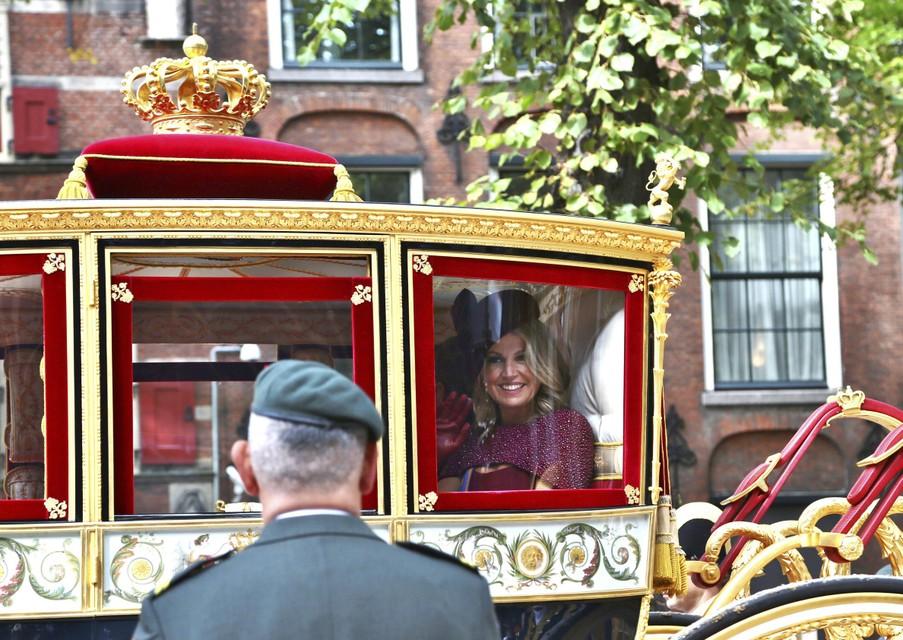 Koningin Máxima in 2019, toen de glazen koets wel uitreed.