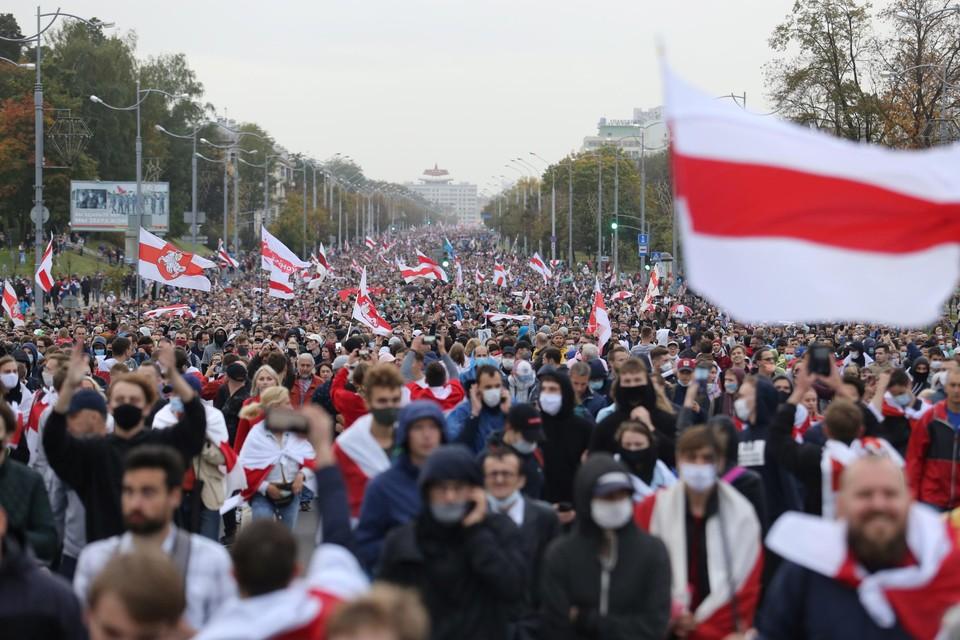 Op 27 september kwamen mensen op straat op te protesteren tegen de verkiezingsuitslagen