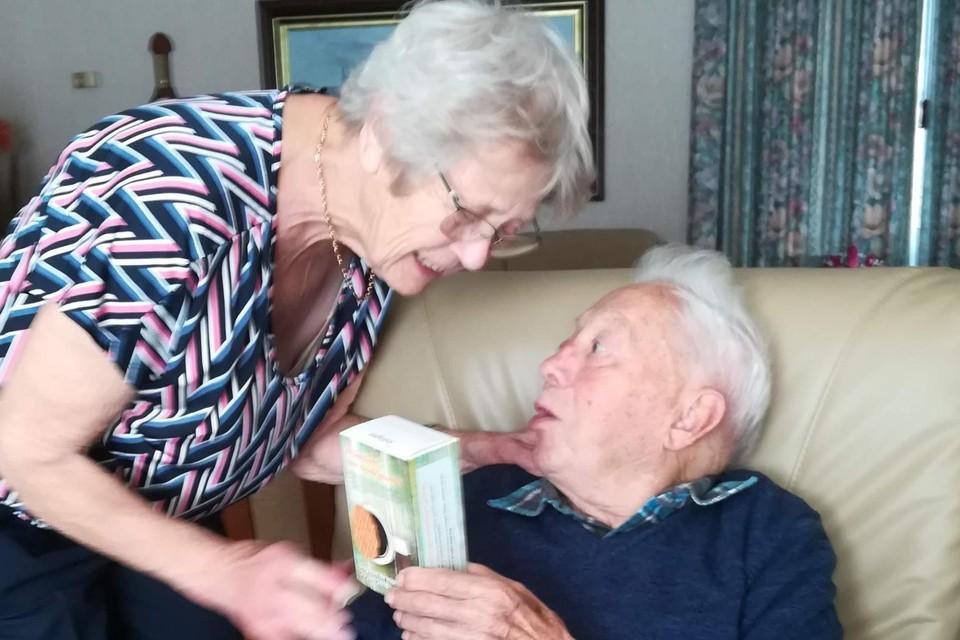 Henri en zijn vrouw Paula, voor ze door de coronacrisis van elkaar gescheiden werden.