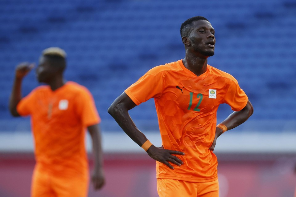 Eboué Kouassi: 90 minuten op het veld tijdens de openingszege van Ivoorkust op de Spelen.
