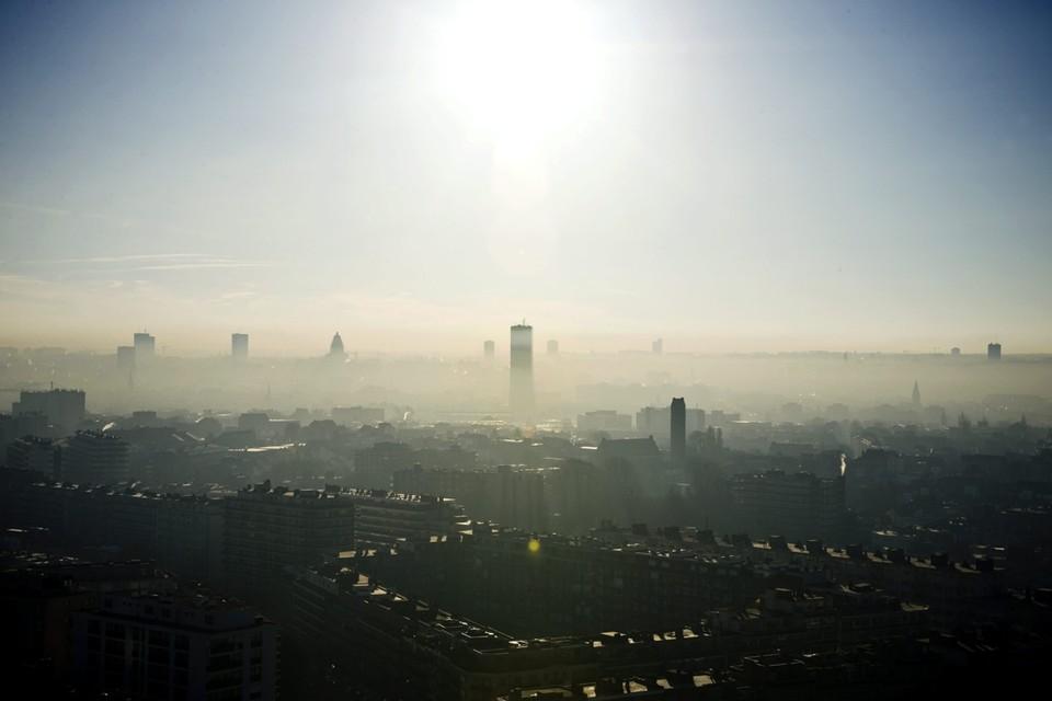 Smog boven Brussel.