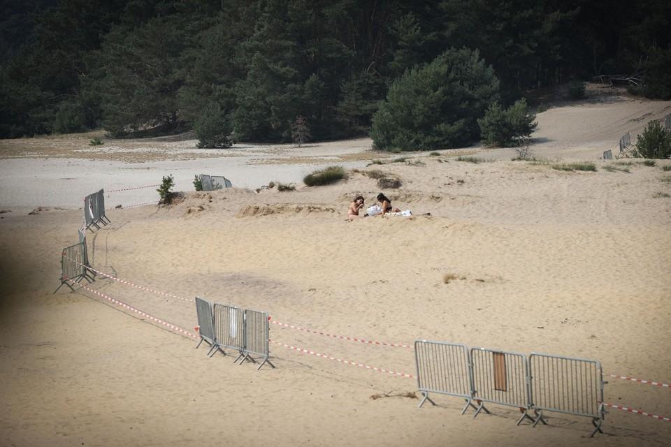 Het zwemverbod in de waterplas in de Lommelse Sahara wordt goed opgevolgd.