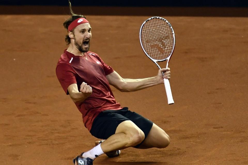 Ruben Bemelmans is één van de vier Limburgers in het Davis Cup-team.