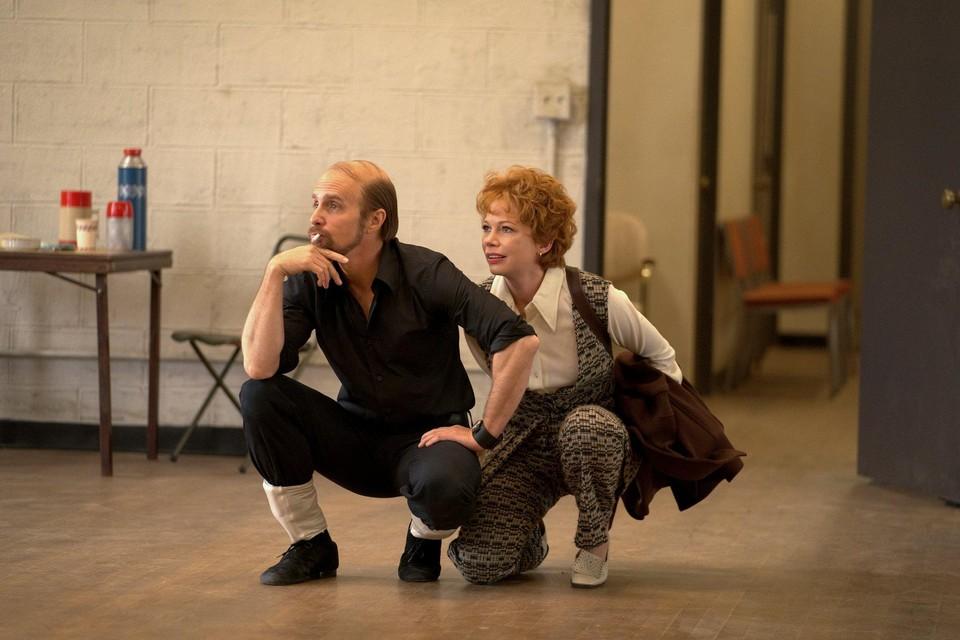 Sam Rockwell en Michelle Williams als respectievelijk choreograaf-regisseur Bob Fosse en sterdanseres Gwen Verdon in de miniserie 'Fosse/Verdon'.