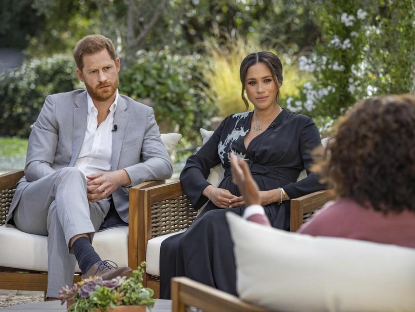 Zondagavond wordt het interview van Harry en Meghan met Oprah Winfrey uitgezonden in de VS.