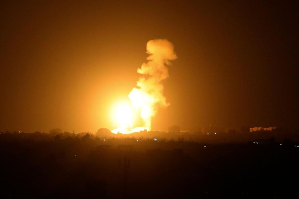 Maandagavond laat werd een luchtaanval uitgevoerd op Khan Younis, in het zuiden van de Gazastrook.