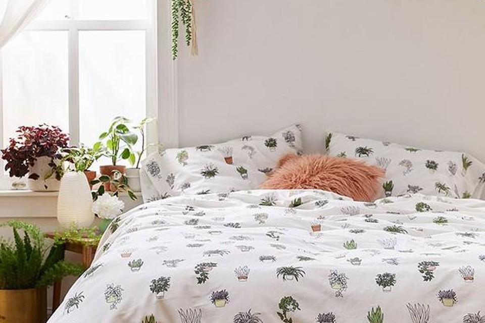 Dekbed met kamerplantenprint - Urban Outfitters - vanaf 39 euro