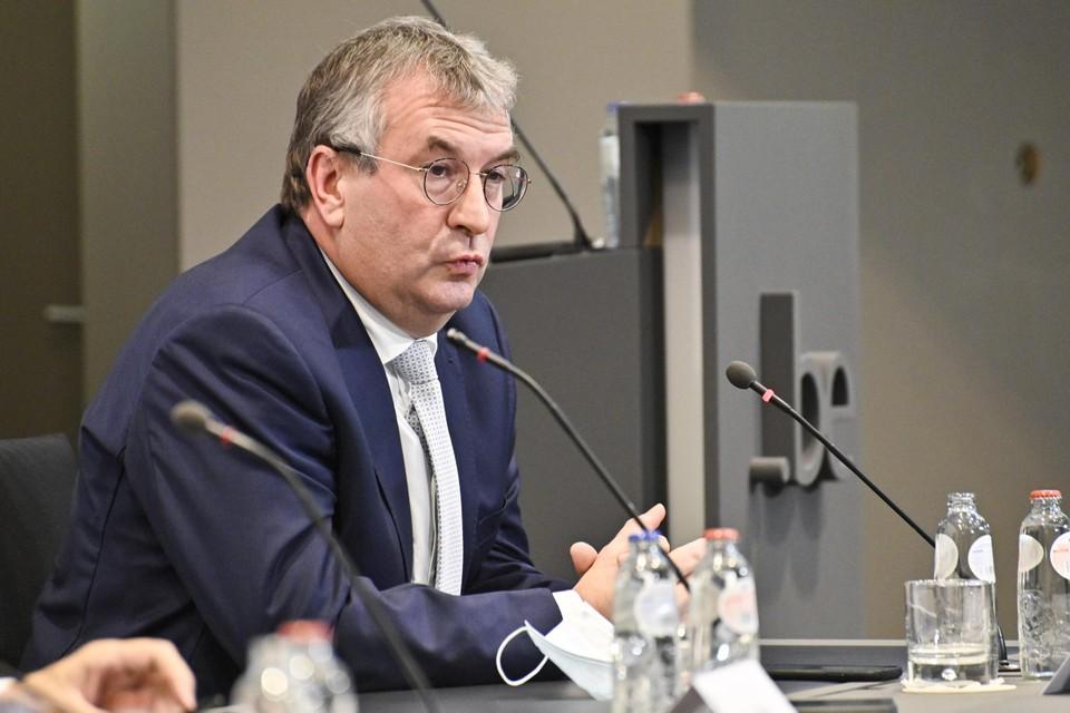 Pierre-Yves Jeholet (MR), minister-president van de Franse Gemeenschap.