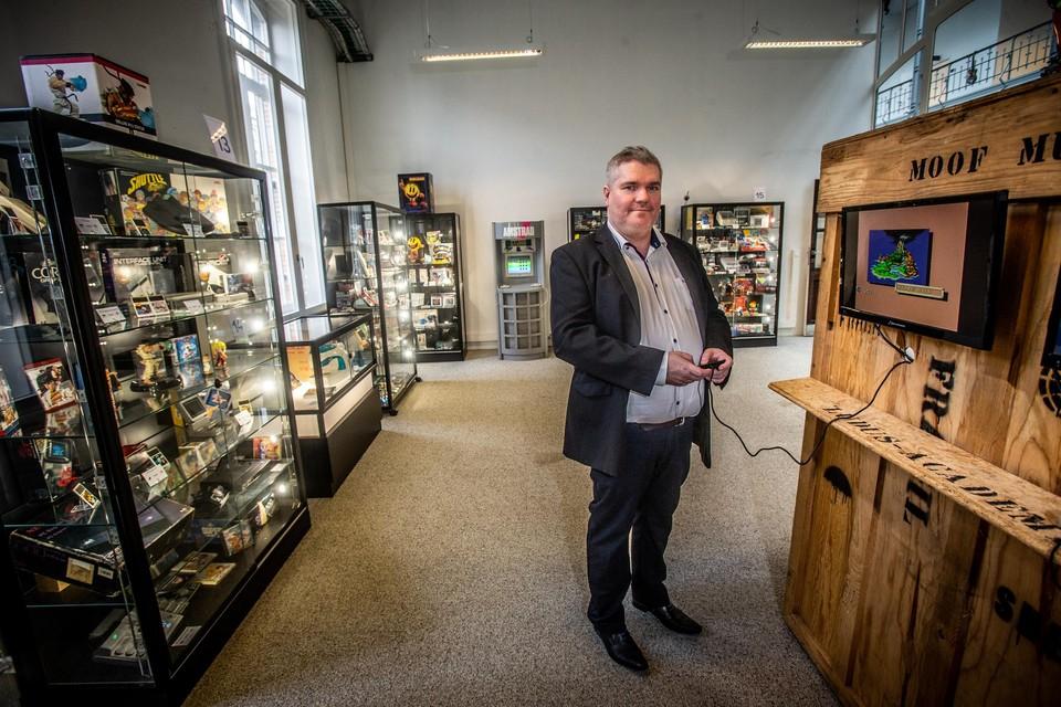 Directeur Jérôme Hatton wil met Pixel Museum de geschiedenis van videogames conserveren.