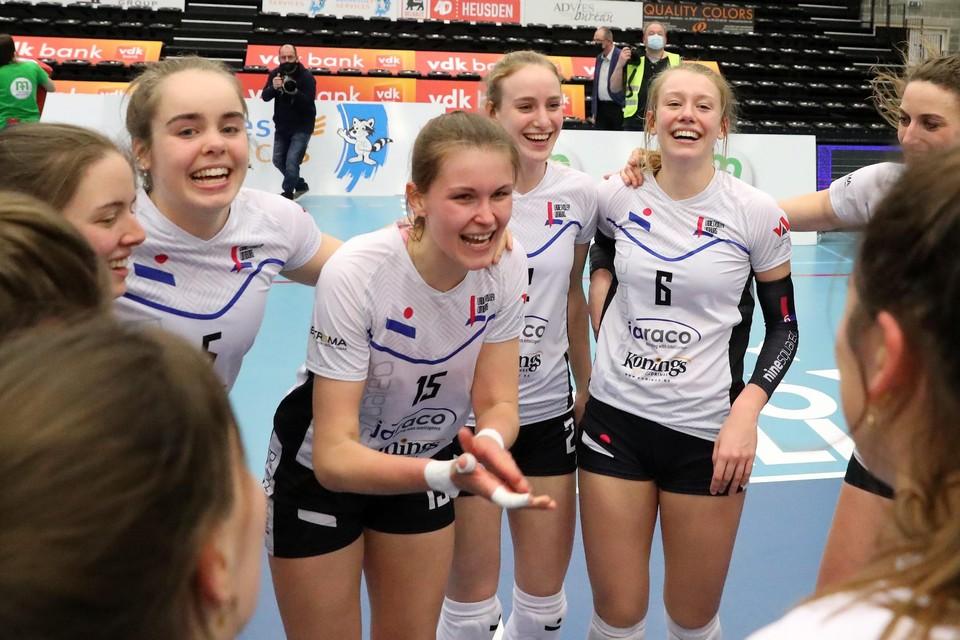 Grote vreugde bij LVL na de winst tegen Gent in halve finale.
