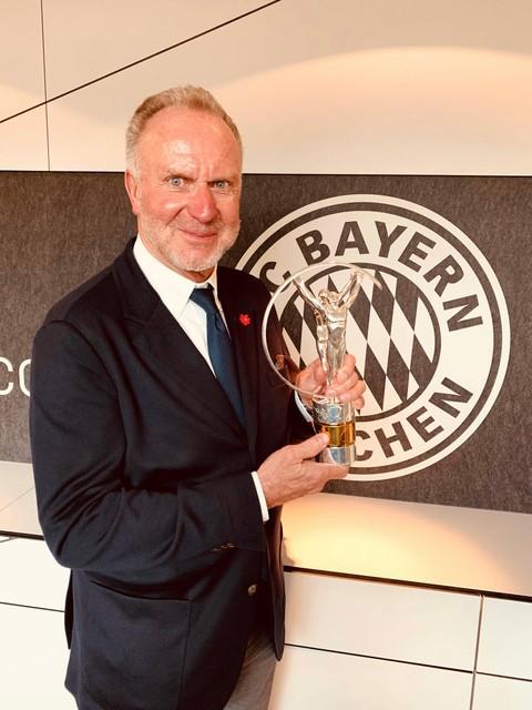Karl-Heinz Rummenigge van Bayern Munchen.