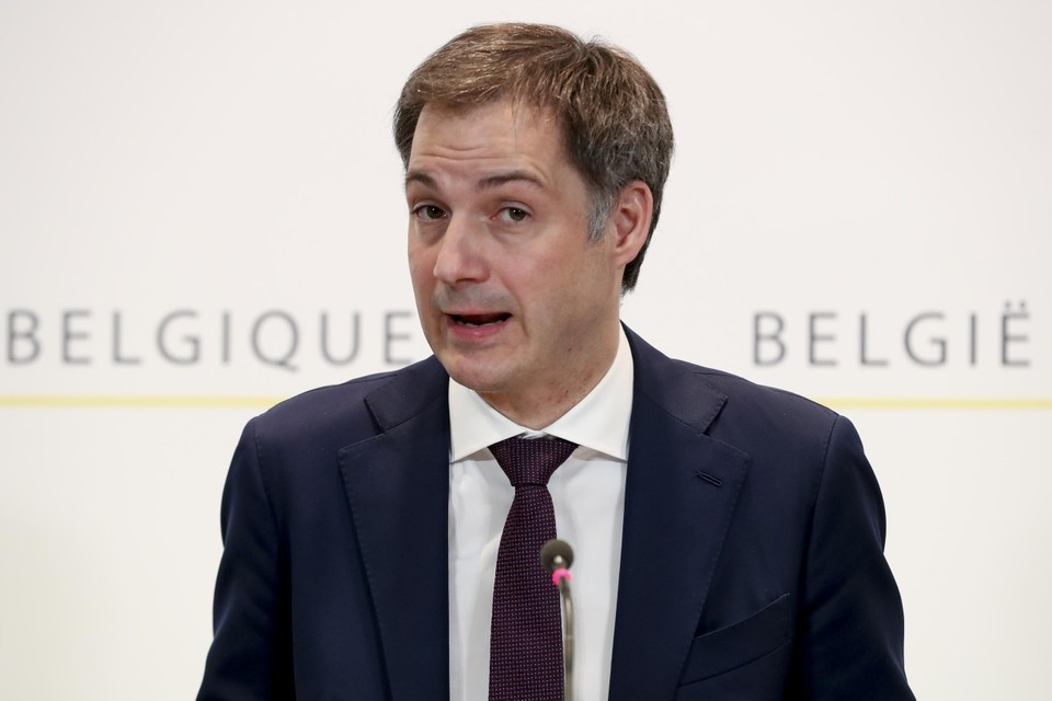"""Premier Alexander De Croo (Open VLD) lanceerde de """"paaspauze""""."""
