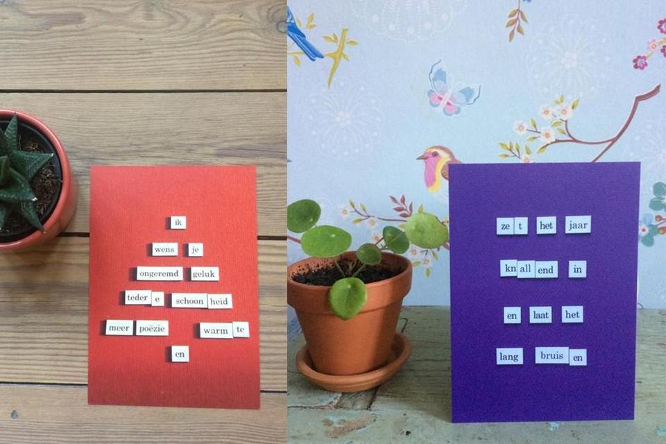 Woordkaartjes, 1,75 euro van Colette Cornelissens via Etsy.com