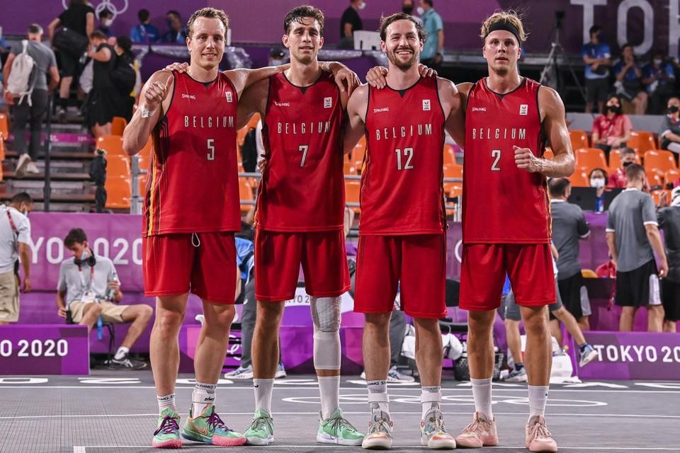 De Belgische 3x3 basketbal-ploeg.