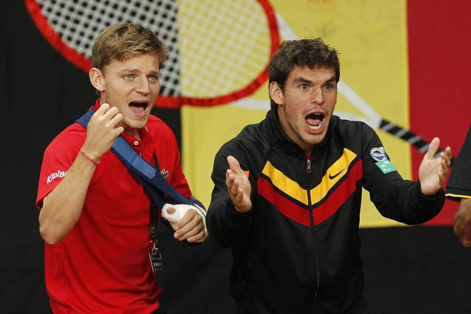 David Goffin en Germain Gigounon, in Daviscuptijden.