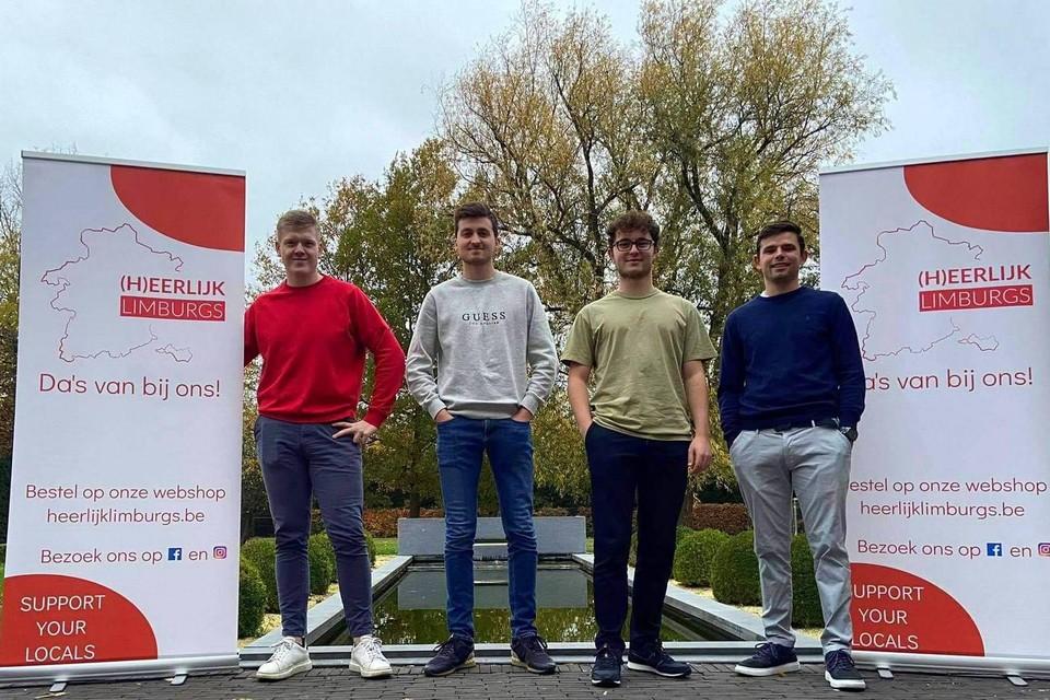 Vier laatstejaarsstudenten KMO en Ondernemen aan de UCLL willen streekproducten in de kijker zetten met (H)eerlijk Limburgs.