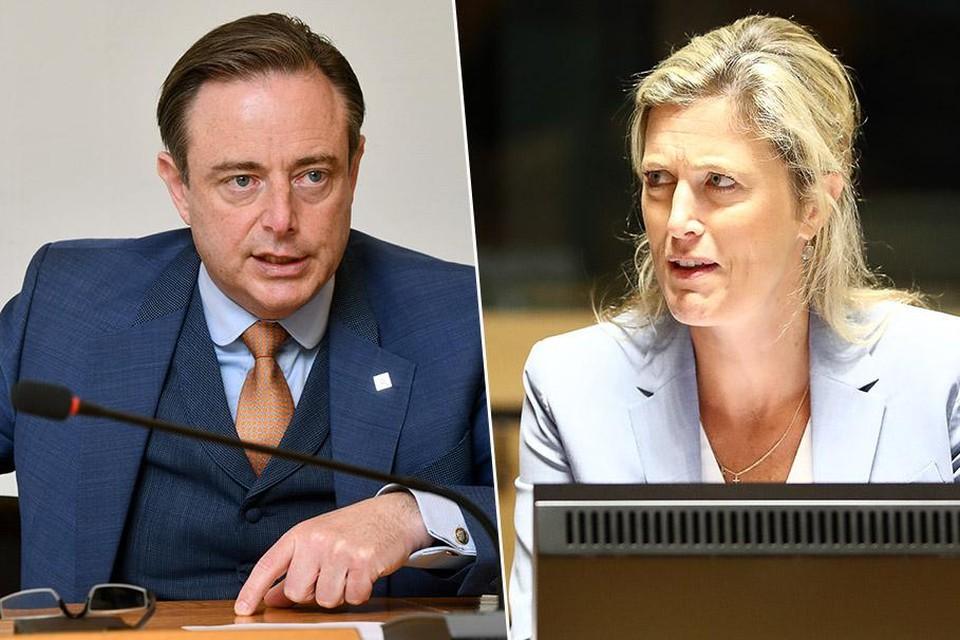 Antwerps burgemeester Bart De Wever (links) is erg kritisch voor minister van Binnenlandse Zaken Annelies Verlinden (rechts).