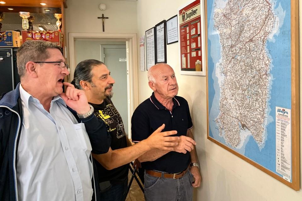 Stefano Marceddu, Franco Masia en Alfonso Sanna van de Limburgse Sardische vereniging maken zich ernstig zorgen over de gevolgen van de branden op Sardinië.