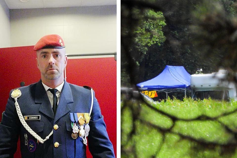 Rechts op de foto: de plek waar het lichaam van Jürgen Conings werd gevonden.