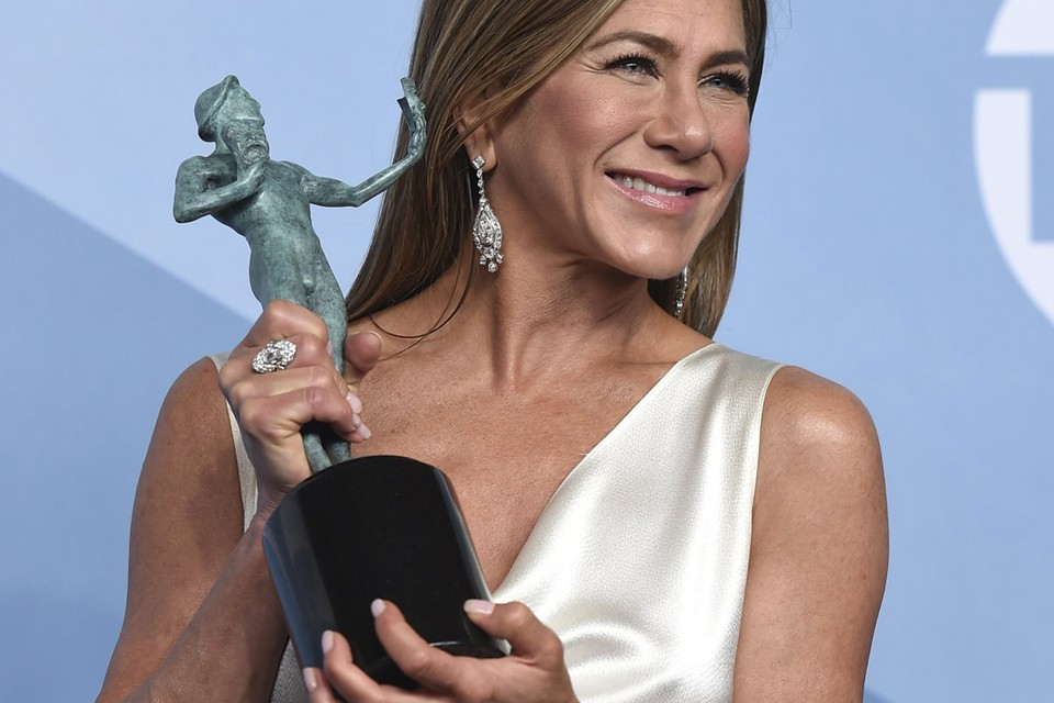 Jennifer Aniston droeg de verlovingsring aan haar linker ringvinger