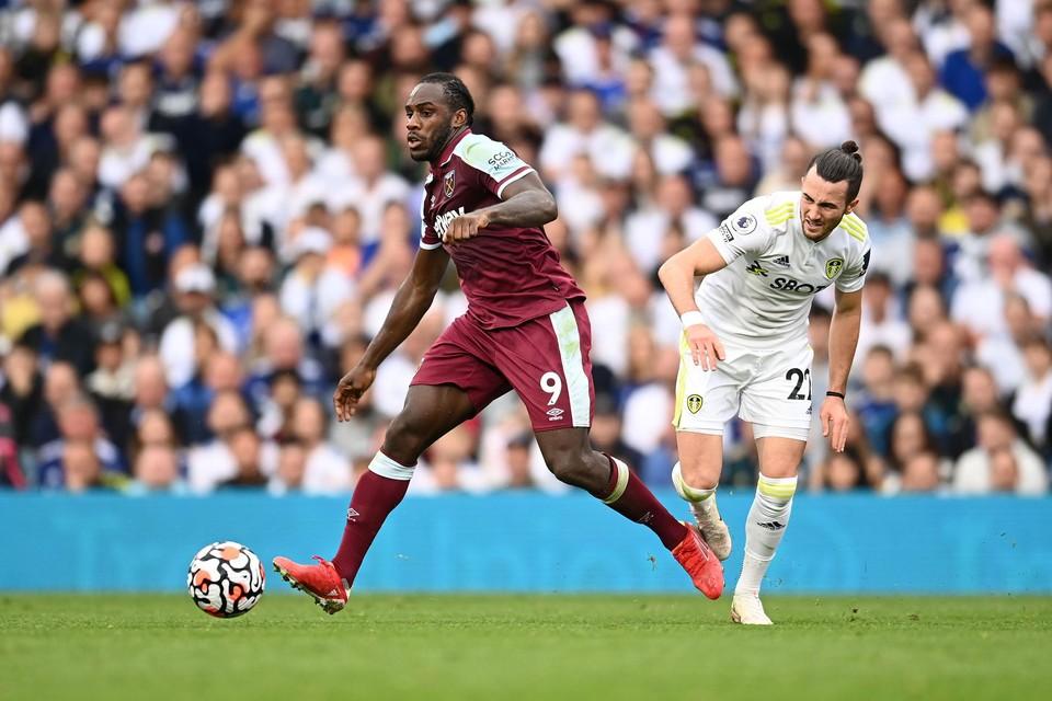 Michael Antonio (West Ham) blijft scoren.